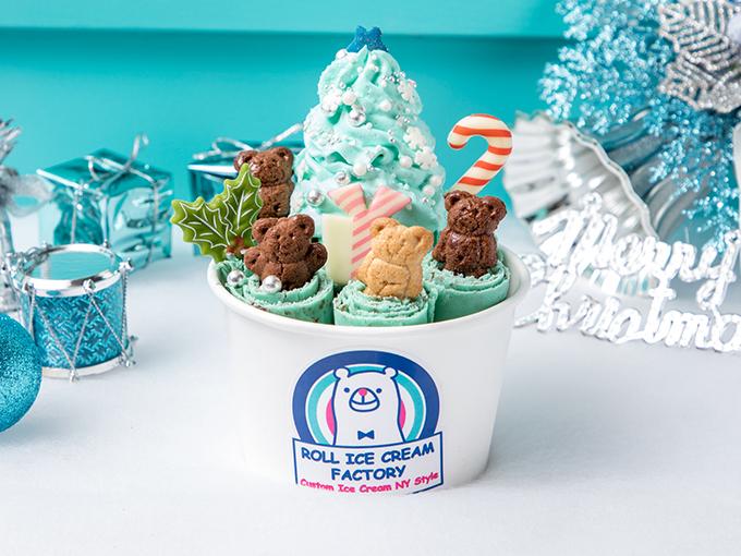 Choco Mint Christmas:2017年可以話係薄荷朱古力年,Roll Ice Cream Factory今年亦順勢推出咗薄荷朱古力味,即刻引爆熱潮!第二款聖誕特別口味就決定係你啦,咁先似番棵聖誕樹架嘛~