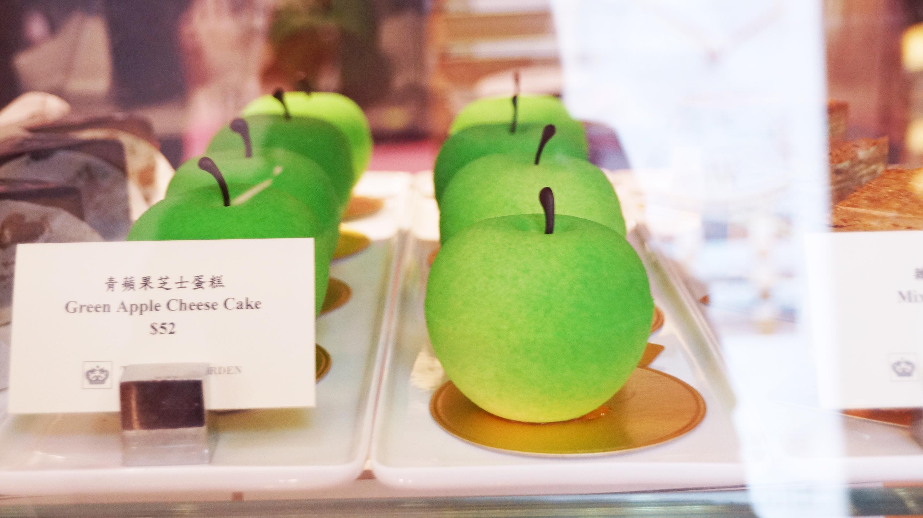 大大個青蘋果,見到都唔捨得食。