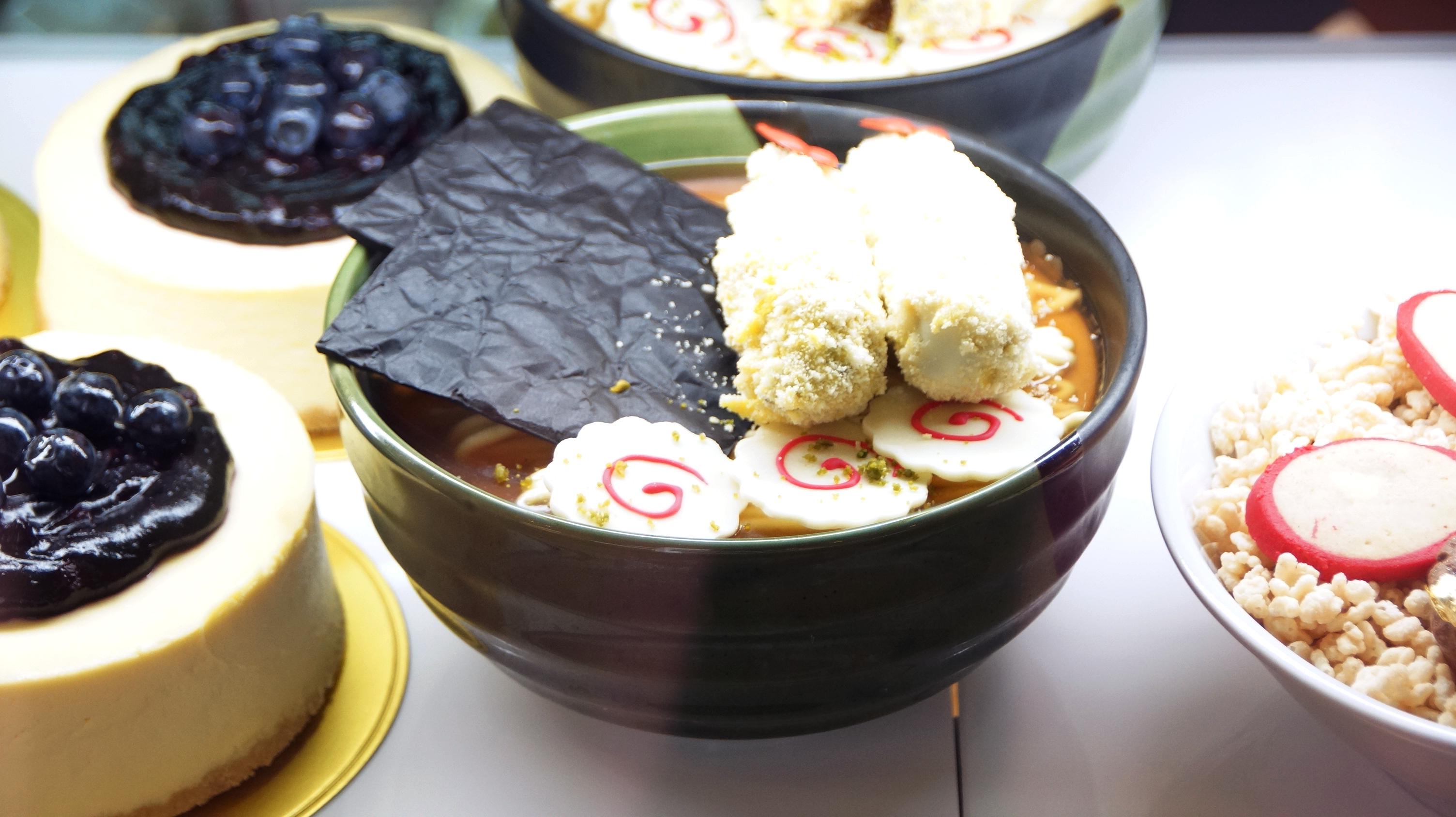 超可愛嘅拉麵蛋糕。