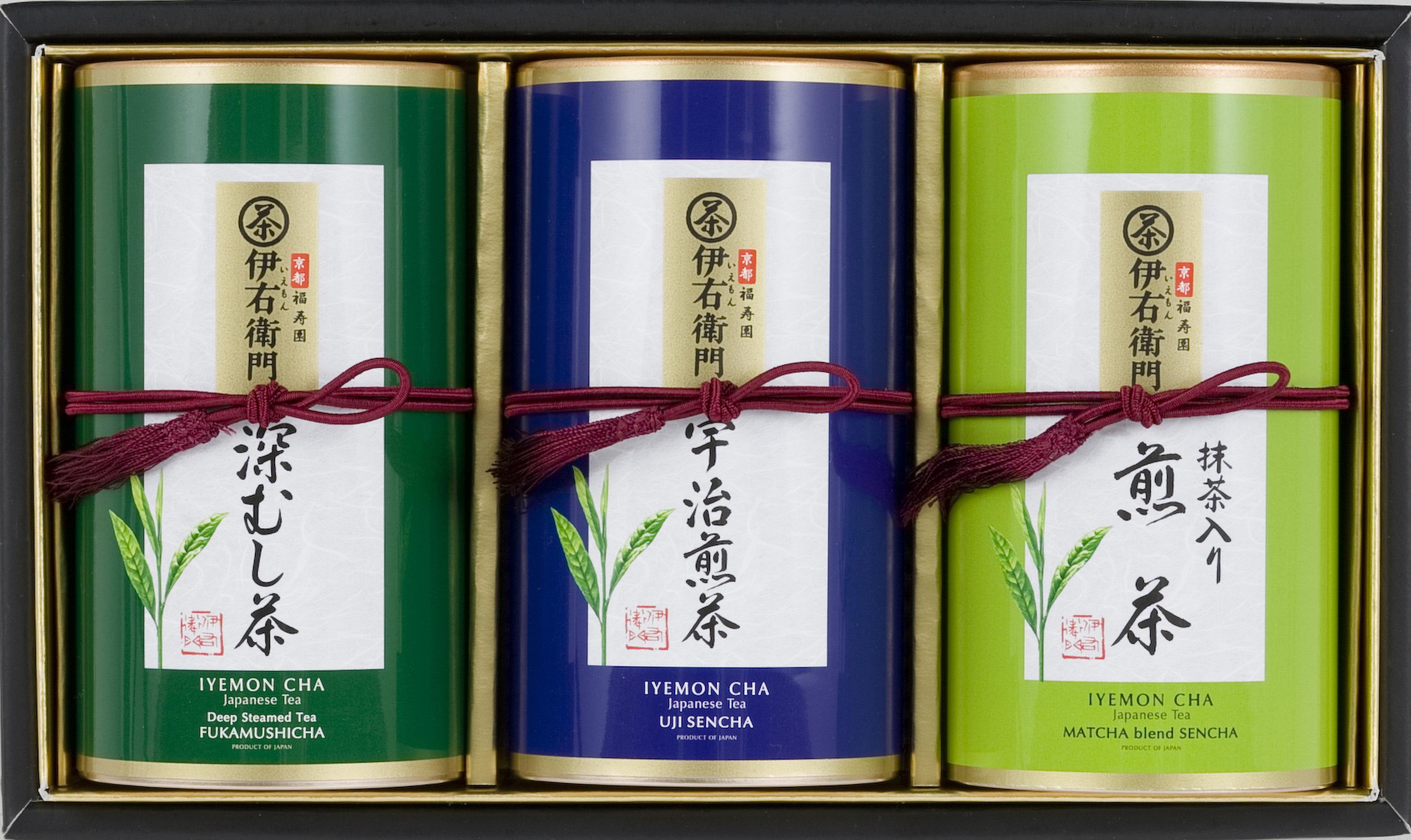 伊右衛門綠茶禮盒 (宇治煎茶 / 抹茶入煎茶 / 深蒸綠茶) (110g x 3件裝) 【26/1 - 8/2登場】 推廣價 $539