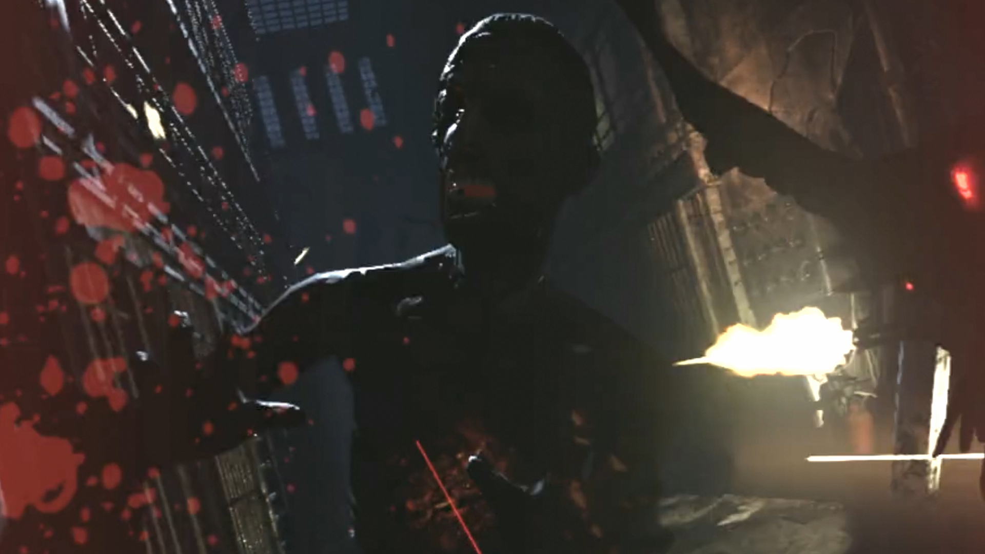 《生化煉獄》—殭屍狂奔,仿造電影「惡靈古堡」,驚悚恐怖射擊感,搭配獨家震動地板及震動槍枝,擬真效果十足!玩家可以充分觀賞720度環繞空間,於遊戲中被無數齜牙咧嘴、身形扭曲的嗜血喪屍追逐,耳邊能聽見風聲、殭屍嘶吼聲和人類發狂尖叫聲,挑戰射擊準繩度之外,更考驗團隊默契與互助合作。恐懼指數:★★★★